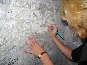 Handtekening zetten in het zweetkamertje
